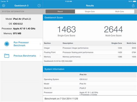geek bench geekbench 3 for ios is now free download iclarified