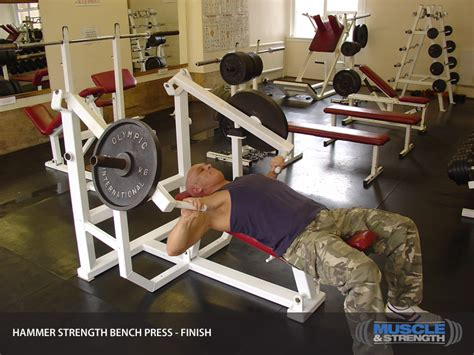 bench press workout for strength hammer strength bench press video exercise guide tips muscle strength