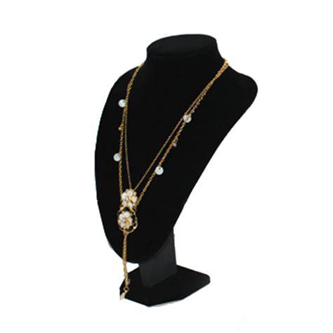 quality black velvet necklace pendant display bust model