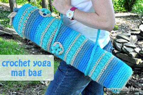 free knitting pattern yoga mat bag yoga mat bag free crochet pattern allcrafts free crafts