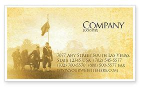 american civil war business card template layout