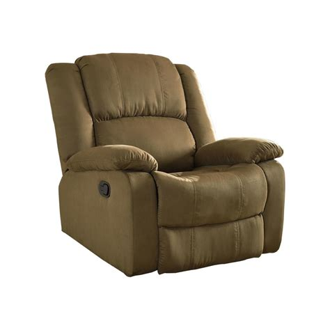 microfiber chair mocha microfiber recliner 72008 91mc the home depot