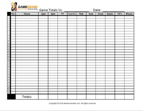 printable free throw shooting chart pin printable statistics basketball stat sheet template