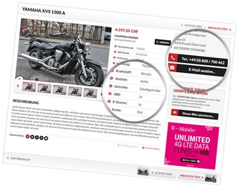 Motorrad Verkauf Ch by Motorrad Occasion Verkaufen Einfach Kostenlos Auf 1000ps