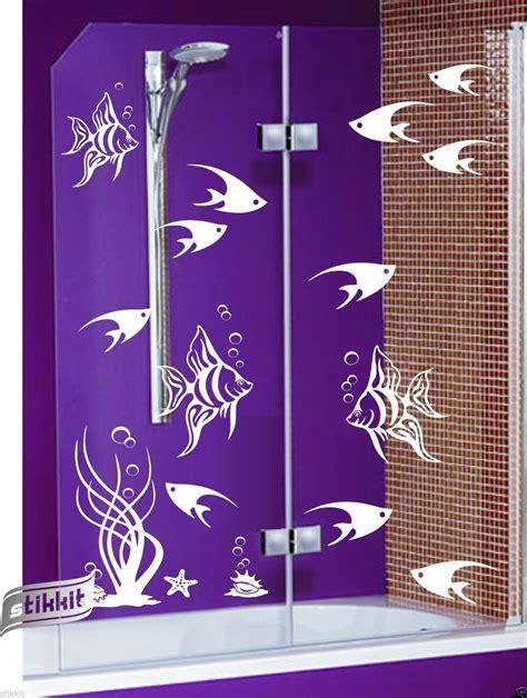 Fenster Aufkleber Fische by Online Kaufen Gro 223 Handel Seashell Wall Decor Bathroom Aus