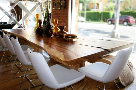 natural wood dining room table www roomservicestore com the eco dining table made from