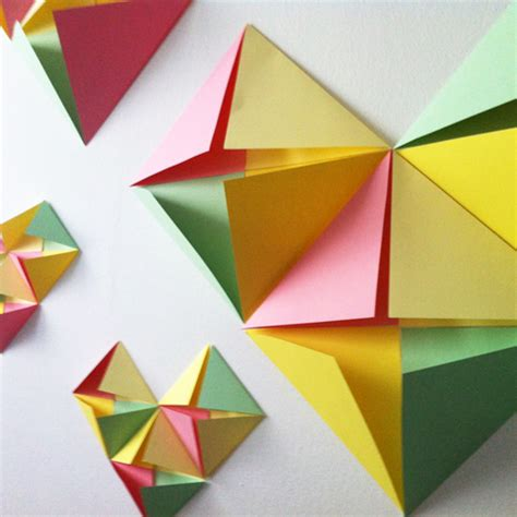 Paper Fold Design - diy folded wall decal design and paper