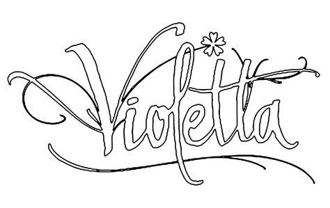 imagenes para colorear violetta violetta la firma di violetta