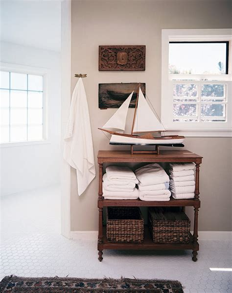 Masculine And Feminine Bathrooms Quot His Quot And Quot Hers Quot Powder Nautical Bathroom Storage