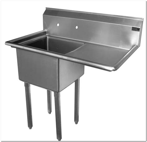 free standing stainless steel sink free standing stainless steel sink with drainboard sink