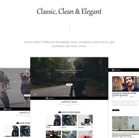 Cizarua Responsive One Page Portfolio Template cizarua responsive one page portfolio template