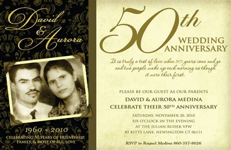 50th Wedding Anniversary Invitation Wording