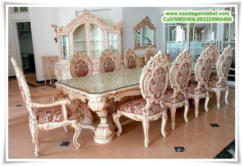 Taplak Meja Makan Model Oval Ukuran 6 8 Kursi harga meja makan klasik modern 8 kursi saudagar mebel