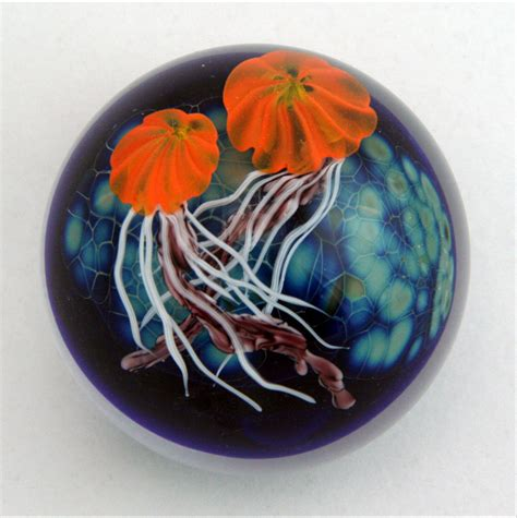 Glass Paper Weight - jellyfish paperweight by mayauel ward glass