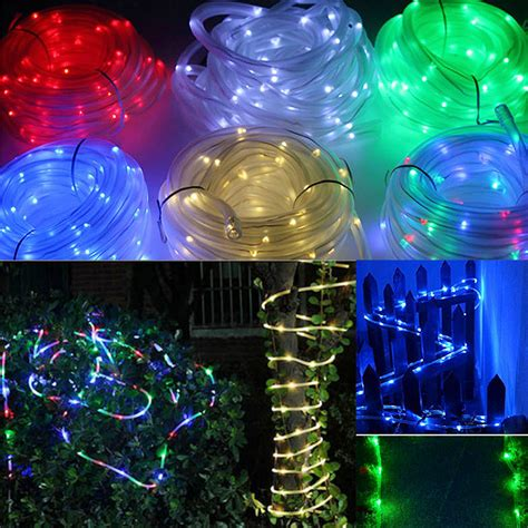 solar power led lights 100 bulb string 50 100 led solar string l yard outdoor