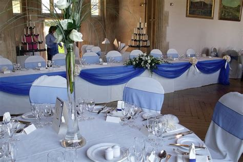blue wedding table decorations midway media