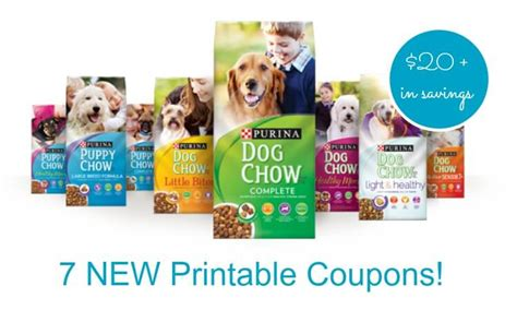 printable cat food coupons purina 7 new purina pet food coupons save over 20