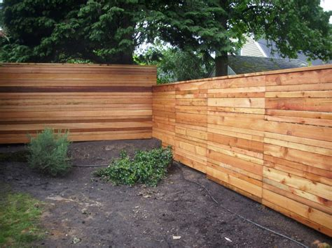 japanese style horizontal board fence deck masters llc portland or