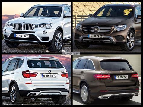 Bmw 3er Vs X3 by Photo Comparison Mercedes Glc X253 Vs Bmw X3