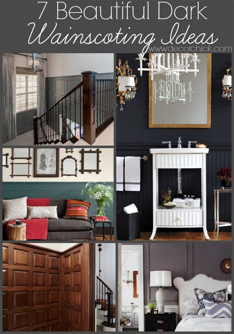 Decorating Bathrooms Ideas 7 Beautiful Dark Wainscoting Ideas Decorchick