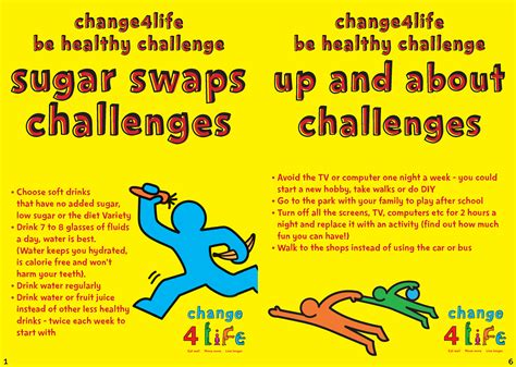 live healthy challenge change4life be healthy challenges list investment