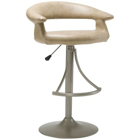 adjustable bar stools with backs and arms hillsdale senoma swivel adjustable height bar stool with