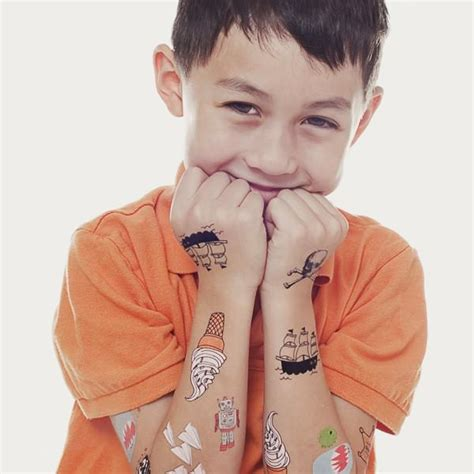 kids with real tattoos tattly mix one by tattly from tattly temporary tattoos