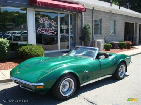 corvette stingray green 1971 brands hatch green metallic chevrolet corvette