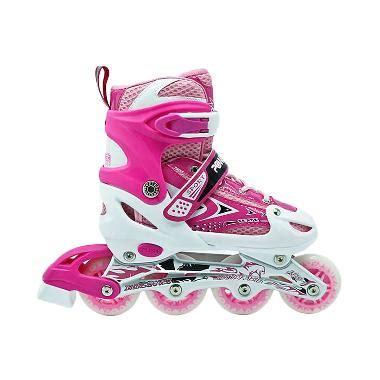 Promo Sepatu Roda Combo Set Inline Skate Pink Karakter Fm 06x H jual sepatu roda anak anak dewasa harga menarik