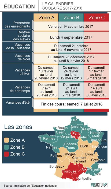 E Scolaire 2017 2018 Rentr 233 E 2017 2018 Voici Le Nouveau Calendrier Des