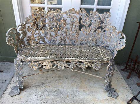 antique iron bench antique cast iron bench for sale at 1stdibs