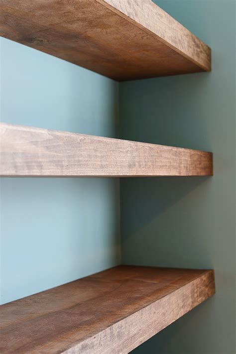 diy floating wood shelves interior design