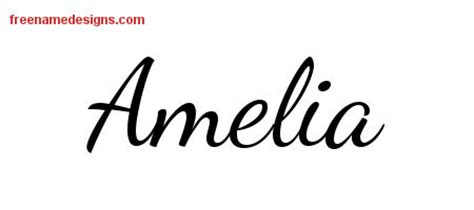 amelia archives free name designs