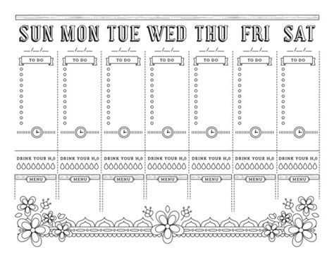 templates voor pages a4 printable planner page weekly calendar template