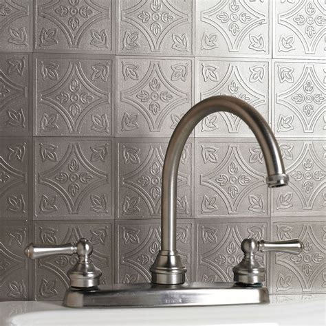 peel and stick metal backsplash peel and stick wall metal embossed tiles for the home