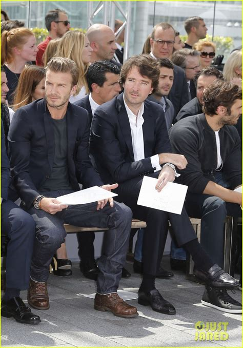 Louis Vuitton David Beckham With His Louis Vuitton Sac Squash And Pegase Luggage by David Beckham Louis Vuitton Show With Marc