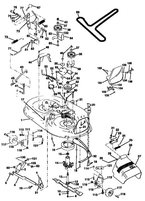 craftsman 42 inch deck diagram mower deck diagram parts list for model 917270810