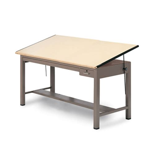 Mayline Ranger Drafting Table Mayline 7736b Ranger Steel 4 Post Drafting Table With Tool And Shallow Plan Drawer 37 X 60 L