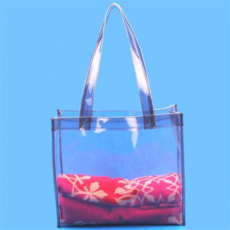 Pvc Tote Bag vinyl clear plastic tote bag pvc handle bags buy
