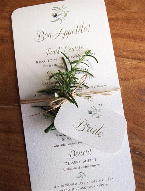 wedding table menu ideas calligraphy menus for rustic outdoor or weddings