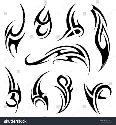 tribal tattoo vectorial tribal stock vector illustration 209013241