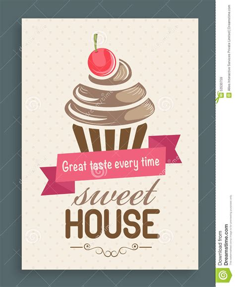 cupcake menu card template menu card template or brochure for sweet house stock