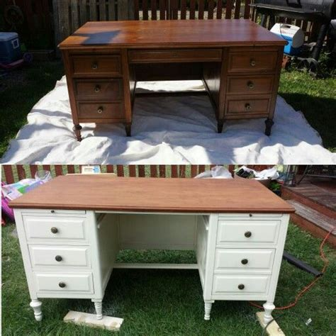 Refinish Desk by Best 25 Refinished Desk Ideas On Chalk Paint