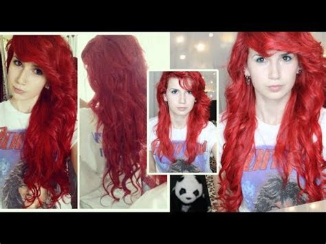 how to put red hair in on the dide with 27 pieceyoutube reviewtorial bright red hair extensions how to curl