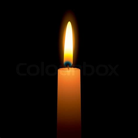 single candle   bright burning flame  hot wax