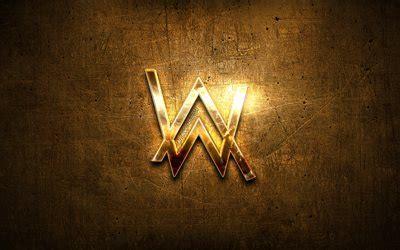wallpapers alan walker golden logo superstars