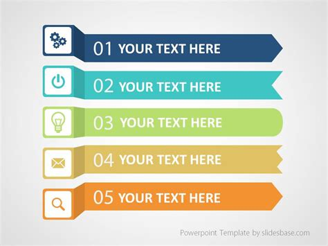 list of templates colorful infographic list powerpoint template slidesbase