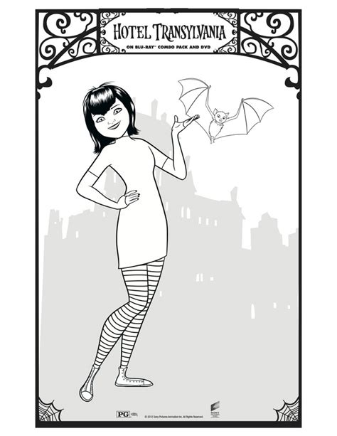 free coloring pages of hotel transylvania