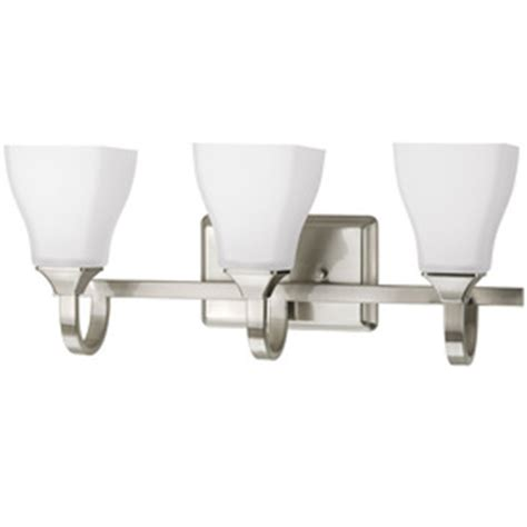delta bathroom light fixtures shop delta 3 light olmsted brushed nickel bathroom vanity