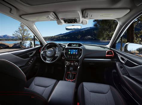 subaru forester 2018 interior 2019 subaru forester unveiled at new york auto show
